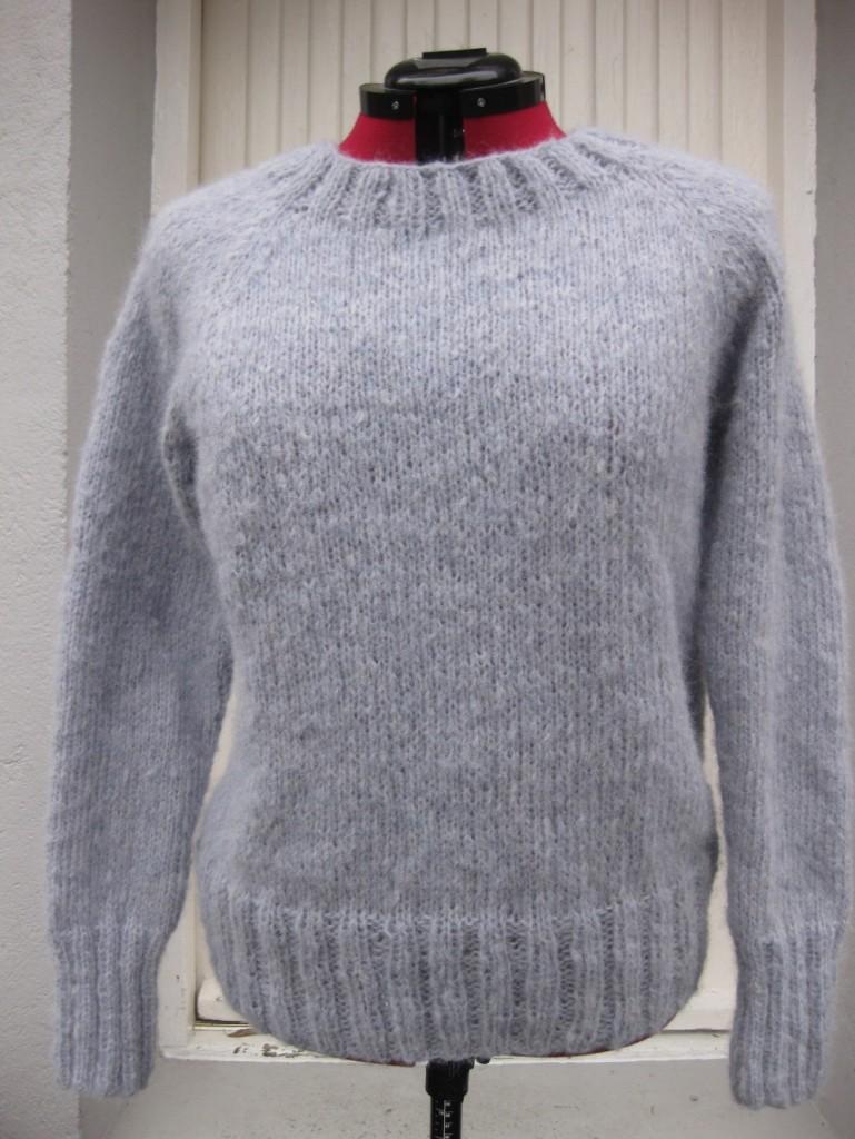430172f9 Lys blå genser i børstet alpakka str.L | AndersensHobby.no