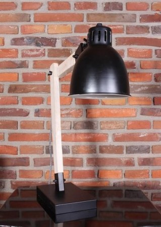 Bordlampe sort